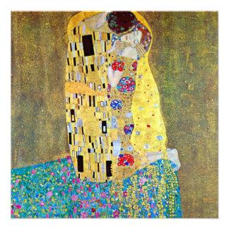 The Kiss Der Kuss by Gustav Klimt Art Nouveau Announcement