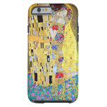 The Kiss (Der Kuss) by Gustav Klimt, Art Nouveau iPhone 6 Case