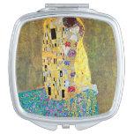 The Kiss (Der Kuss) by Gustav Klimt, Art Nouveau Mirrors For Makeup