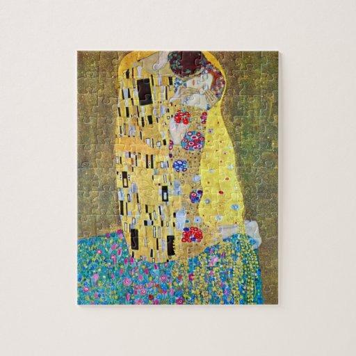 The Kiss (Der Kuss) by Gustav Klimt, Art Nouveau Puzzle
