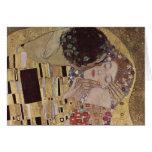 The Kiss Detail - Gustav Klimt Card