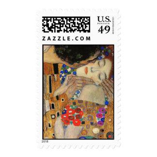 The Kiss (Detail) Gustav Klimt Stamp