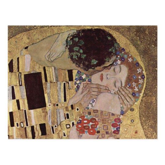 The Kiss Detail - Gustav Klimt Postcard