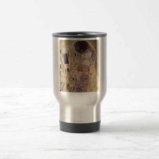 The Kiss Detail - Gustav Klimt Travel Mug