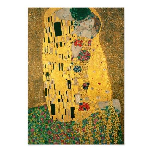 """The Kiss - Gustav Klimt 3.5"""" X 5"""" Invitation Card"""