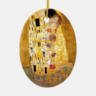 The Kiss Gustav Klimt Ceramic Ornament