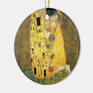 The Kiss - Gustav Klimt Ceramic Ornament