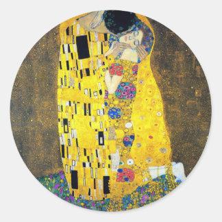 The Kiss, Gustav Klimt Classic Round Sticker