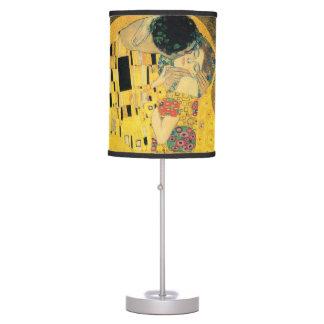 The Kiss - Gustav Klimt Desk Lamps