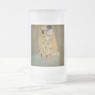 The Kiss - Gustav Klimt Frosted Beer Mug