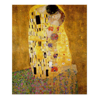 The Kiss Gustav Klimt Poster