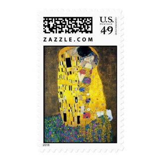 The Kiss, Gustav Klimt Stamp