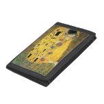 The Kiss - Gustav Klimt Trifold Wallets