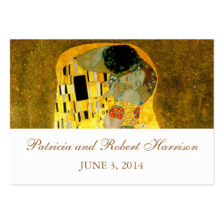 The Kiss Gustav Klimt Wedding | Place Card Large Business Cards (Pack Of 100)