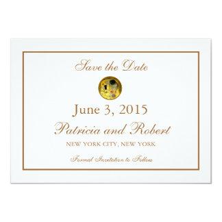 The Kiss Gustav Klimt Wedding | Save the Date Card