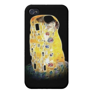 The Kiss Gustav Klimt Yellow Digital Painting iPhone 4 Cases
