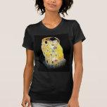 The Kiss Gustav Klimt Yellow Digital Painting T-shirts