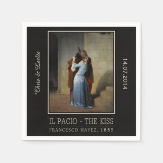 The Kiss / Il Bacio custom paper napkins