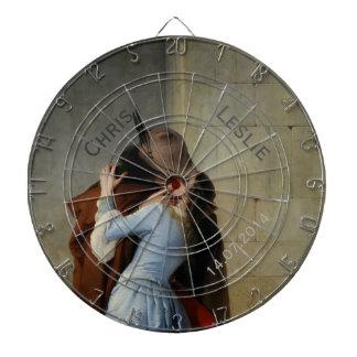 The Kiss / Il Bacio custom text dart board