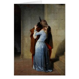 The Kiss / Il Bacio greeting card