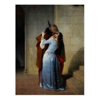 The Kiss / Il Bacio postcard