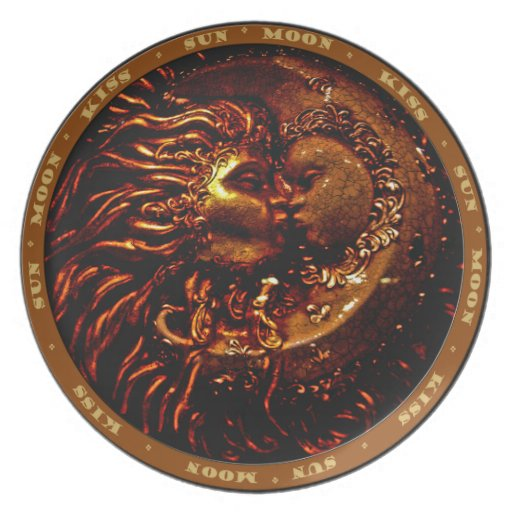 The Kiss- Italian Sun & Moon Party Plates