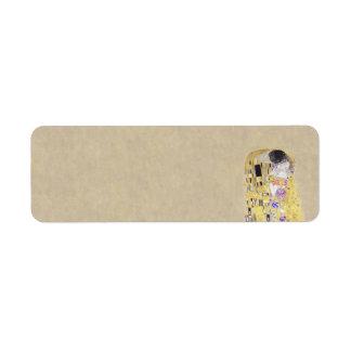 The Kiss Klimt Wedding and Anniversary Return Address Label