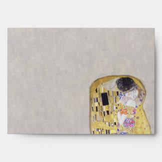 The Kiss Klimt Wedding Art Nouveau Envelopes