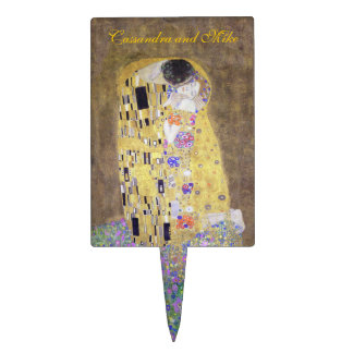 """The Kiss"" Klimt Wedding Cake Topper Art Nouveau"
