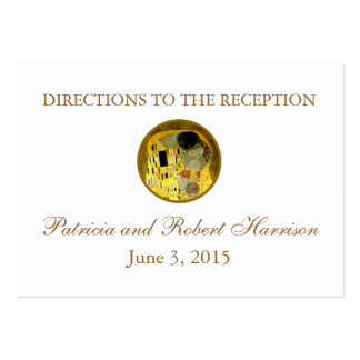 The Kiss Klimt Wedding | Reception Directions Large Business Cards (Pack Of 100)