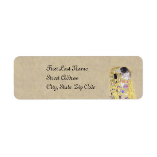 The Kiss Klimt Wedding Sand Golden Anniversary Return Address Label