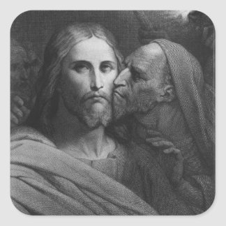 The Kiss of Judas 2 Square Stickers