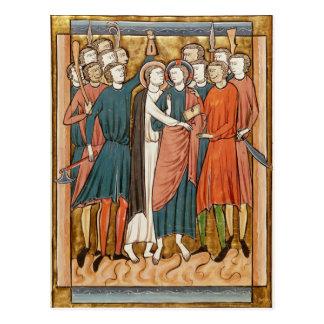 The Kiss of Judas, 'Psautier a l'Usage de Paris' Postcard