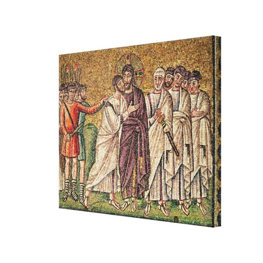 The Kiss of Judas, Scenes from the Life of Christ Canvas Print