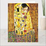 "The Kiss, painting by Gustav Klimt Card<br><div class=""desc"">Gustav Klimt painting,  The Kiss,  greeting card.</div>"