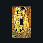 """The Kiss, painting by Gustav Klimt Light Switch Cover<br><div class=""""desc"""">Gustav Klimt painting,  The Kiss,  light switch cover. VIRGINIA5050,  custom-designed products and gifts at www.zazzle.com/virginia5050*,  PAUL KLEE GIFT SHOP at www.zazzle.com/paulkleegiftshop*,  INTERNATIONAL GIFTS at zazzle.com/InternationalGifts.</div>"""