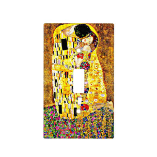 The Kiss, painting by Gustav Klimt Light Switch Cover