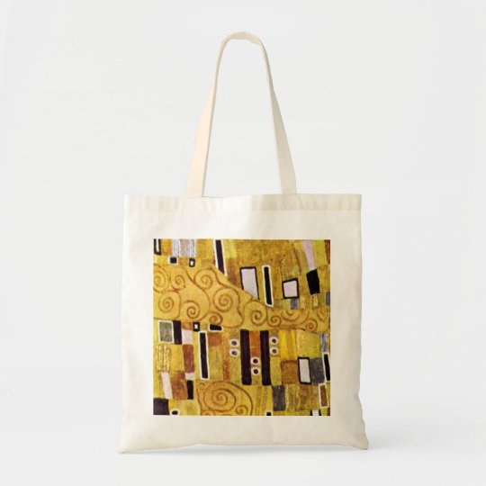 The Kiss Pattern by Gustav Klimt, Art Nouveau Tote Bag