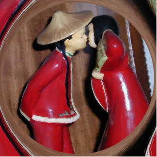 The Kiss Photo Sculpture