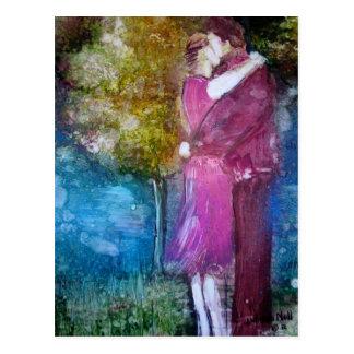 """The Kiss"" Postcard"