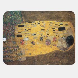 The Kiss, ,reproduction,Gustav Klimt painting,art, Baby Blanket