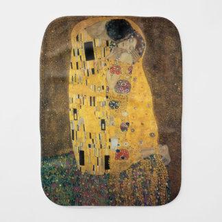 The Kiss, ,reproduction,Gustav Klimt painting,art, Baby Burp Cloth
