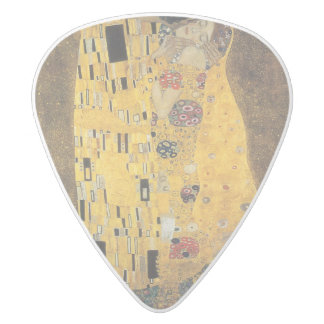 The Kiss, ,reproduction,Gustav Klimt painting,art, White Delrin Guitar Pick