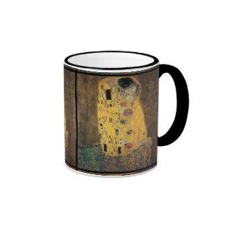 The Kiss, ,reproduction,Gustav Klimt painting,art Ringer Mug