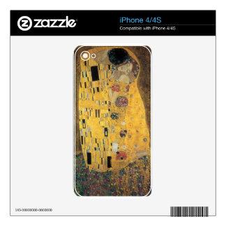 The Kiss, ,reproduction,Gustav Klimt painting,art Skins For iPhone 4