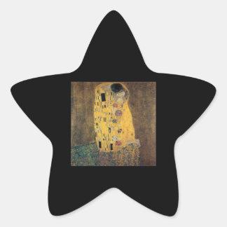 The Kiss, ,reproduction,Gustav Klimt painting,art Star Sticker