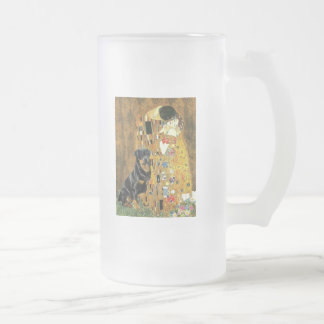 The Kiss - Rottweiler (#3) Frosted Glass Beer Mug