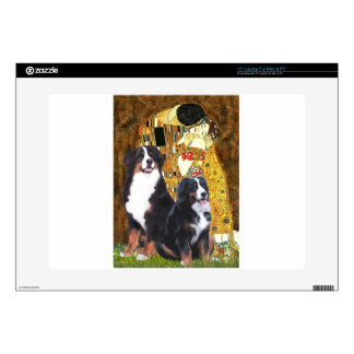 The Kiss - Two Bernese Mountain Dogs Skins For Laptops