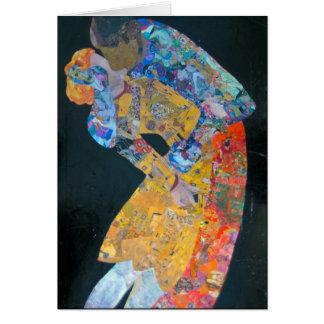 The Kiss-Using Klimt's Artwork Greeting card