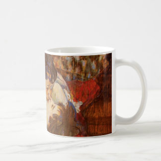 The Kiss - Vintage Art by Toulouse-Lautrec Coffee Mug